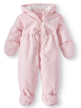 2b01227e3 Product Image Hooded Puffer Snowsuit Pram (Baby Girls)
