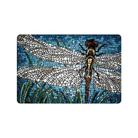 WinHome Dragonfly Art Doormat Floor Mats Rugs Outdoors/Indoor Doormat Size 23.6x15.7 inches