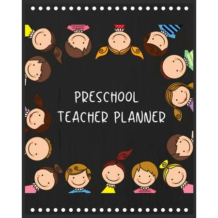 Kindergarten Art Lesson Halloween (Preschool teacher planner: Simply Stylish Teacher Planner (Teacher's Lesson Planner and Record Book) Teacher Planner for Preschool, Back to school Activities preschool - Kindergarten student)