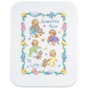 "Baby Hugs Someone New Quilt Stamped Cross Stitch Kit-34""X43"""