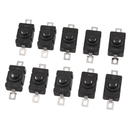 Flashing High Roller Button (10xTorch Flashlight Self Lock SPST Push Button Switch /DC 250V)