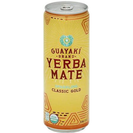 Guayaki Bio Marque Sparkling Classic Gold Maté Thé, 12 fl oz (paquet de 12)