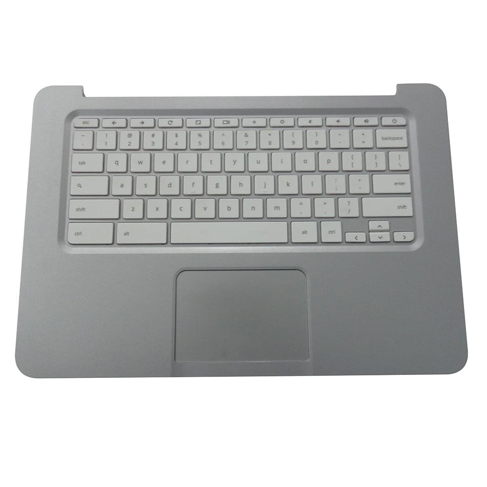 HP Chromebook 14 G1 14-Q Silver Palmrest Keyboard & Touchpad 740172-001