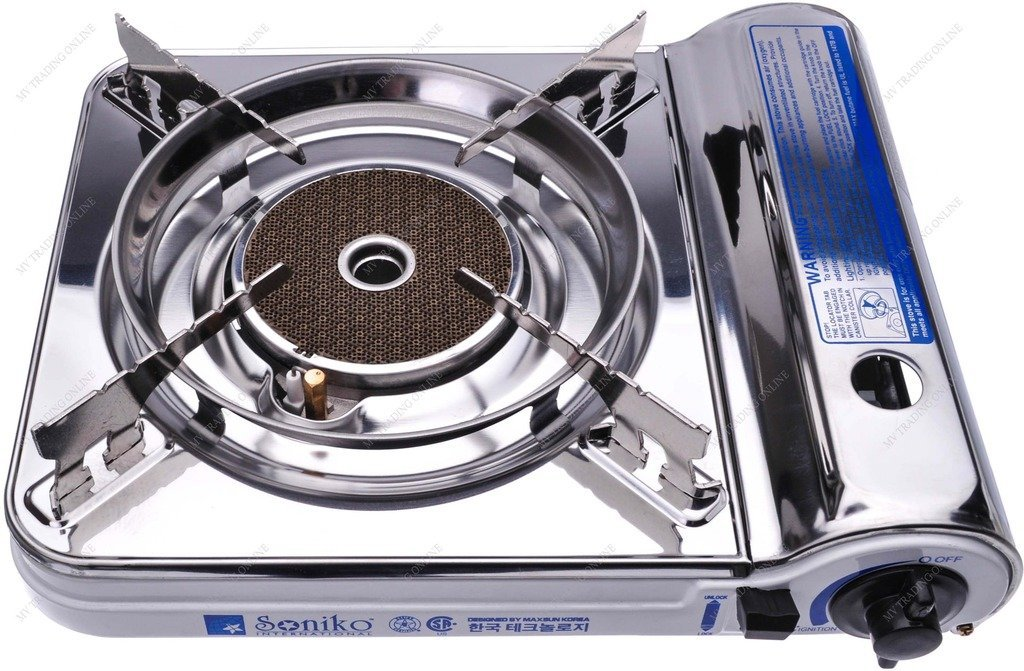 Soniko NS3500CS Stainless Steel Portable Gas Stove with InfraRed Technology Ceramic Burner, White by M.V. Trading