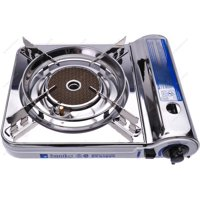 Soniko NS3500CS Stainless Steel Portable Gas Stove with InfraRed Technology Ceramic Burner, White