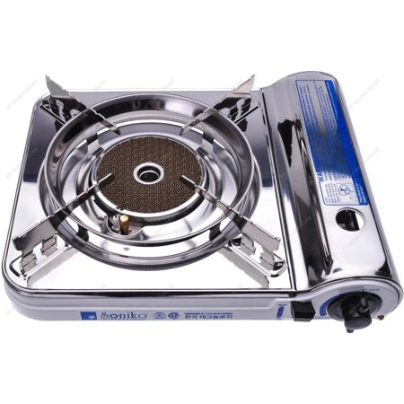 Soniko NS3500CS Stainless Steel Portable Gas Stove with InfraRed Technology Ceramic Burner,