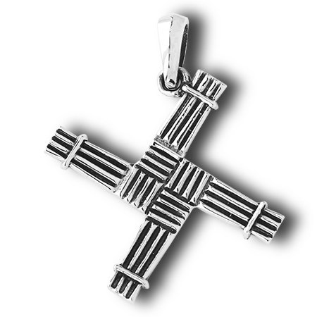 Saint Bridget St  Brigid Cross Sterling Silver Pendant