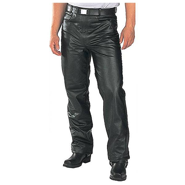 Xelement B7400 Classic Mens Fitted Leather Pants