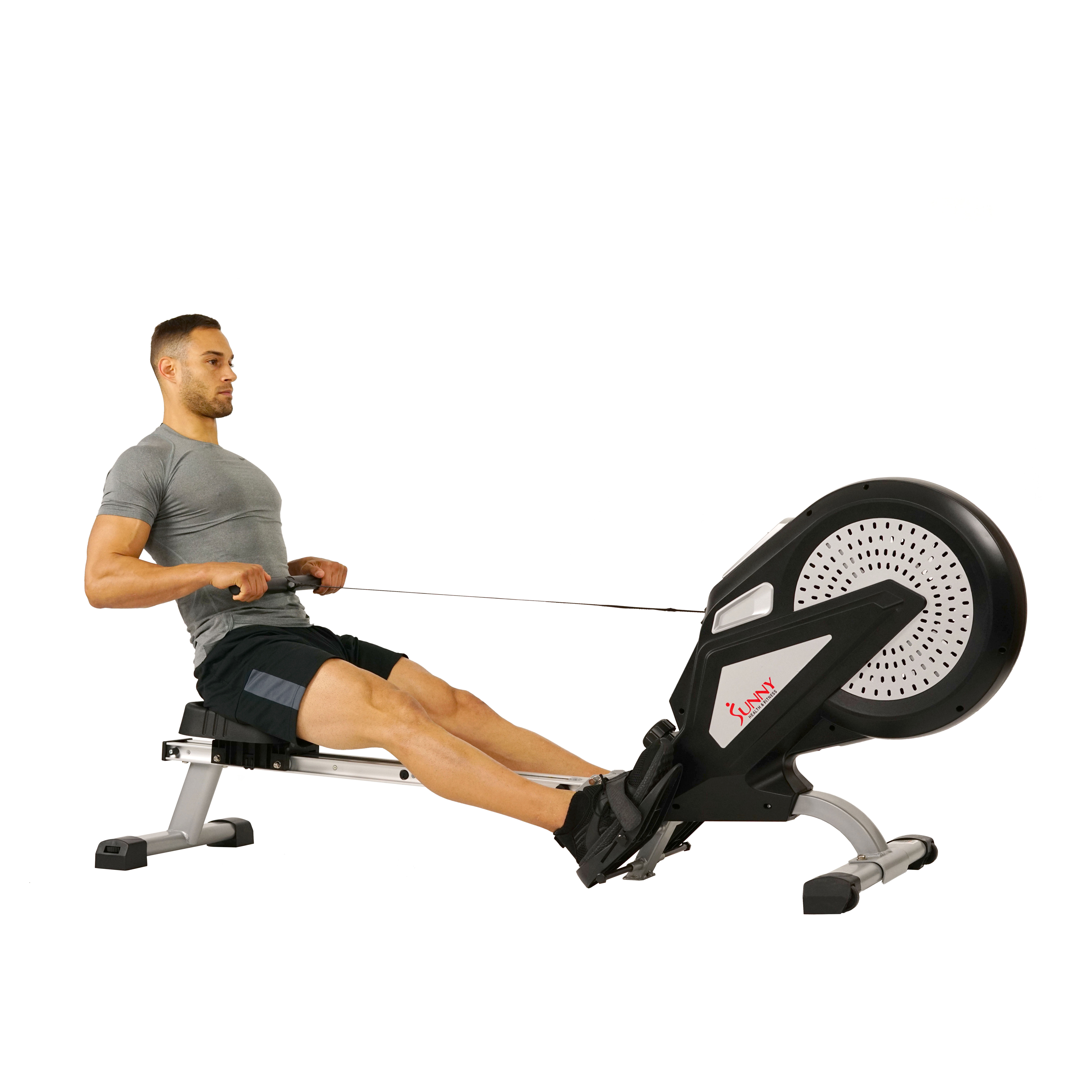 Sunny Health & Fitness SF-RW5623 Air Rowing Machine w/ LCD Monitor