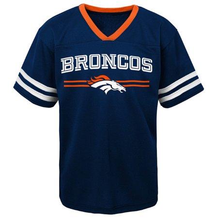 promo code 591cf c7090 Newborn & Infant Navy Denver Broncos Mesh Jersey T-Shirt