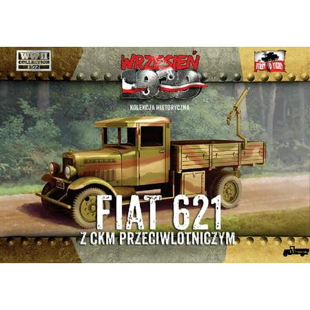 1/72 WWII Polish Fiat 621 Truck w/AA Machine Gun - image 1 de 1
