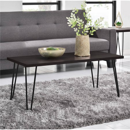 Mainstays Retro Coffee Table, Multiple Colors Black Rustic Coffee Table