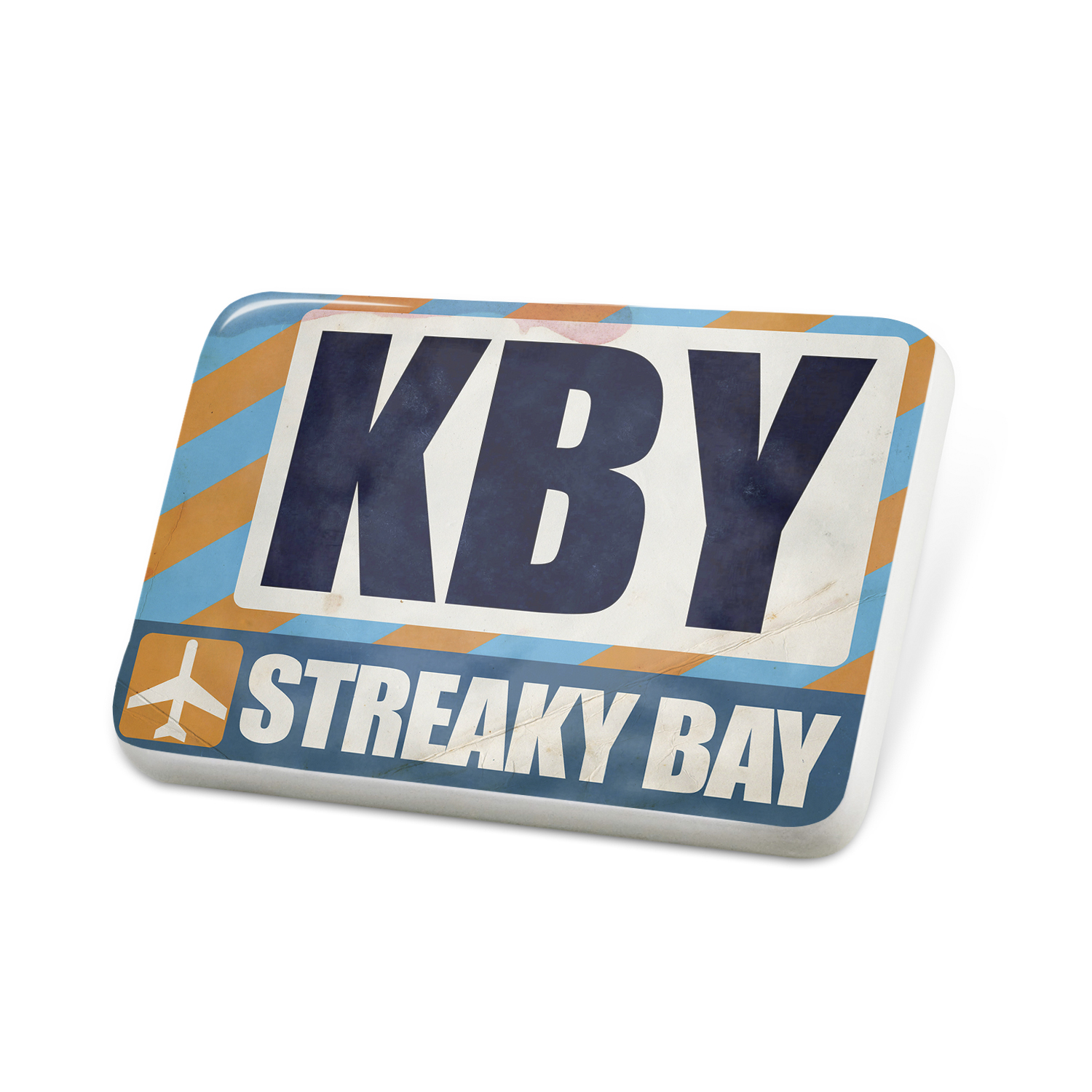 Porcelein Pin Airportcode KBY Streaky Bay Lapel Badge – NEONBLOND