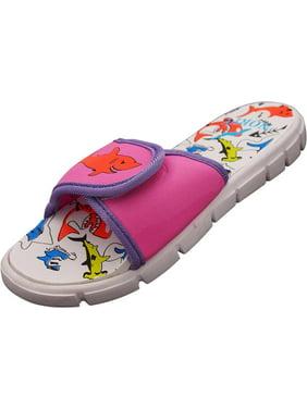NORTY Boys Girls Unisex Slide Strap Sports Shower Beach Pool Sandal - 5 Colors - Runs One Size Small, 40700 Aqua / 1MUSLittleKid