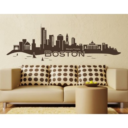 Boston City Skyline Wall Decal cityscape wall decal sticker mural viny