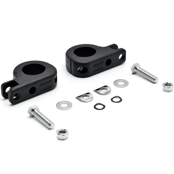 "Black 1-1/4"" Engine Guard Tube Bar Footpeg Clamps For Harley Davidson CVO Dyna Fat Bob FXDFSE 2009 - image 3 of 5"