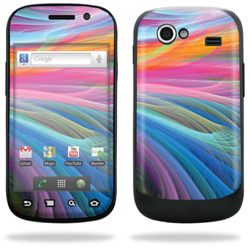 Mightyskins Protective Vinyl Skin Decal Cover for Samsung Google Nexus S 4G Cell Phone wrap sticker skins  - Light waves