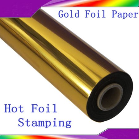 0.7X131 yds Gold Foil Paper Hot Stamping Paper Heat Transfer -
