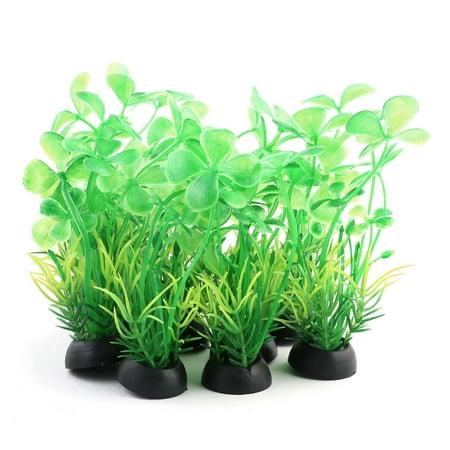 Plastic Artificial Grass Plant (Unique BargainsFish Tank Plastic Landscape Artificial Grass Decoration Plant Green)