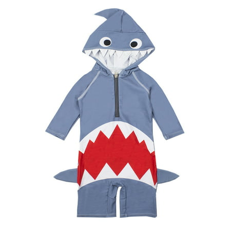 Baby Boy Kids Shark Costume Swimsuit (3T) - Shark Kids Costume