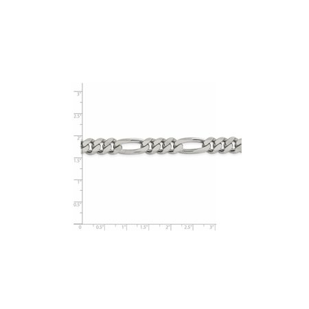 925 Sterling Silver 9mm Figaro Chain Anklet - image 2 de 5