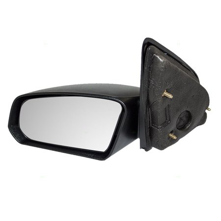 BROCK Manual Side View Mirror Textured Driver Replacement for 03-07 Saturn Ion Sedan (2004 Saturn Ion Rear View Mirror Loose)
