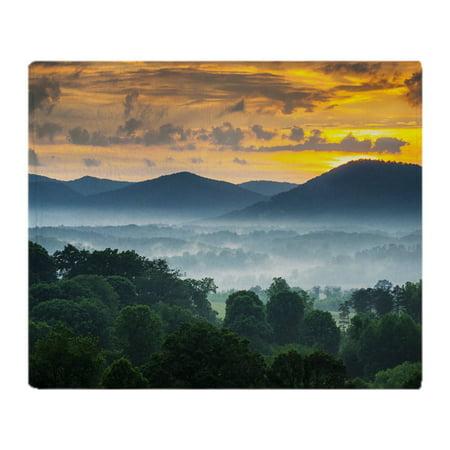 CafePress - Asheville Nc Blue Ridge Mountains Su - Soft Fleece Throw Blanket, 50