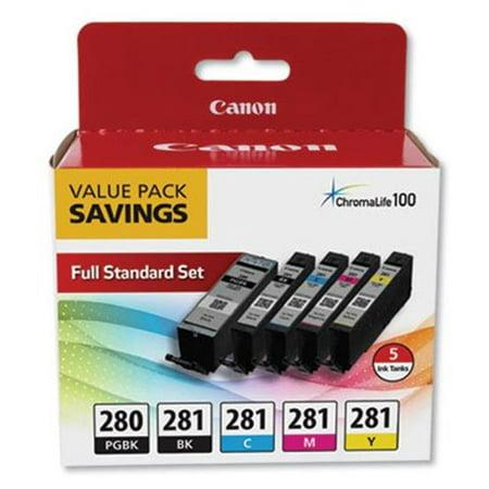 Canon 2075C006 PGI-280 & CLI-281 Ink Value Pack Dye Value Pack Ink
