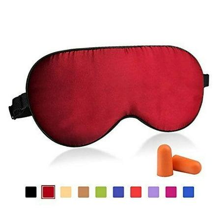 Fitglam Natural Silk Sleep Mask, Best Sleeping Mask Eye Mask Eye Cover