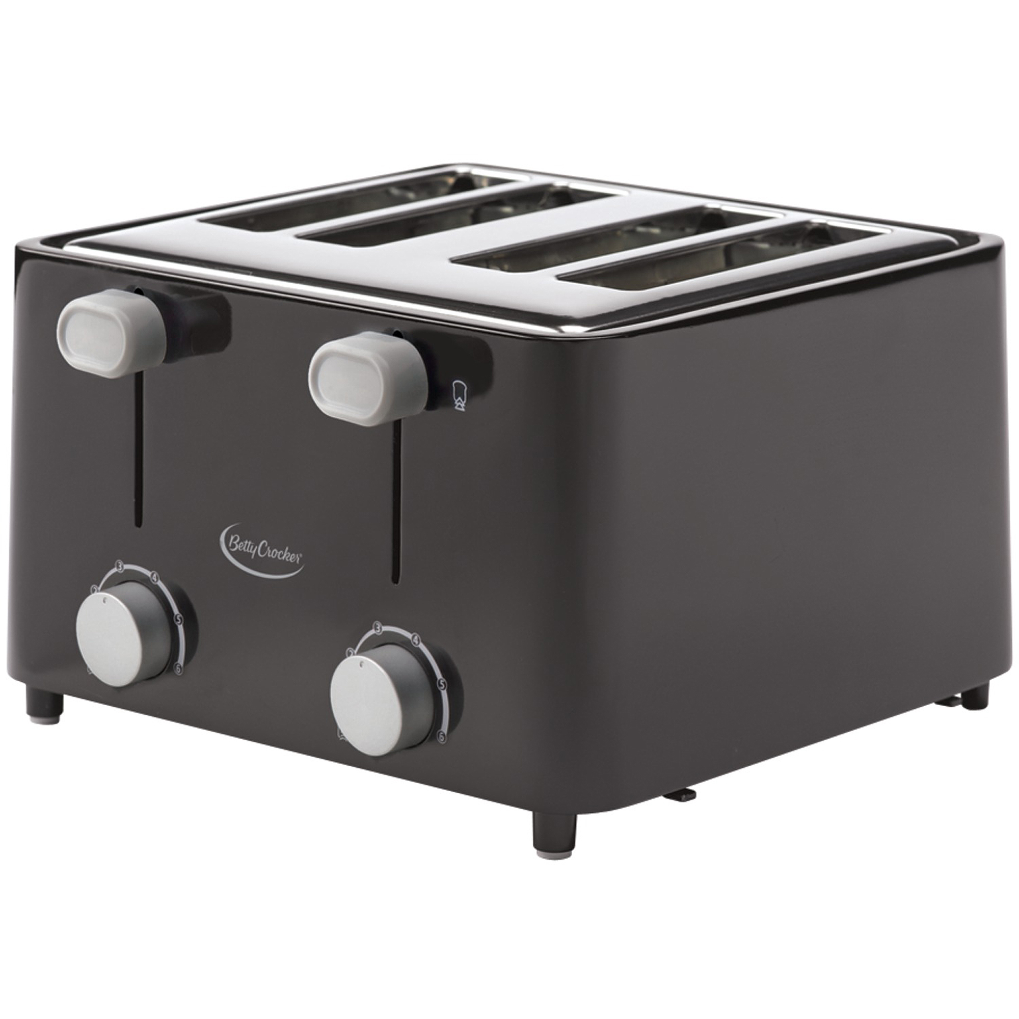 Betty Crocker 4-Slice Toaster, Black by BETTY CROCKER