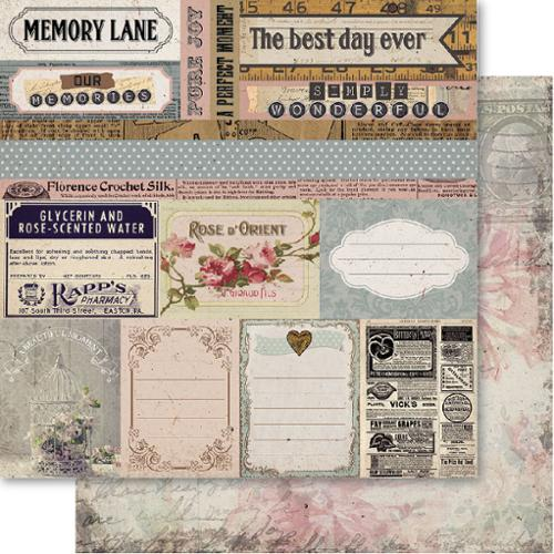 "Bella! Memories Double-Sided Cardstock 12""X12""-Memory Lane"