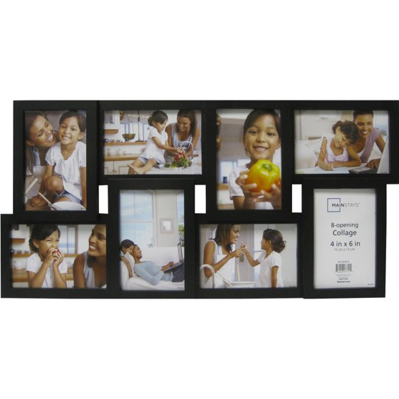 Mainstays 8 Opening Black Collage Frame Walmart Com