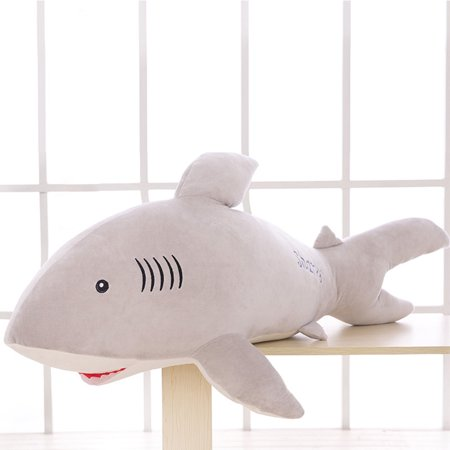LeadingStar 50cm/20in Lovely Cotton Stuffed Simulation Animal Pillow Soft Plush Doll Shark Toy Birthday Present Holiday Gift for Boys and Girls - Birthday Stuff For Girls