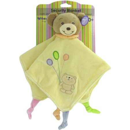 Teddy Rattle - Baby Bow Teddy Bear Rattle Blanket in Yellow by Russ