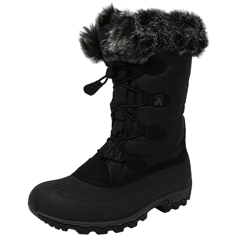 Kamik Women's Momentum Charcoal Mid-Calf Fabric Snow Boot 9M by Kamik