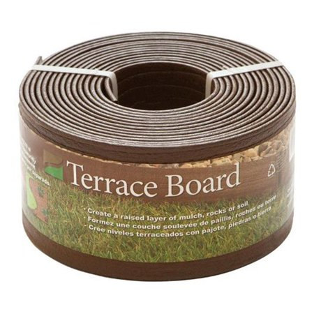 94320 Terrace Board Landscape Edging  Brown  4 in. x 20 ft. ()