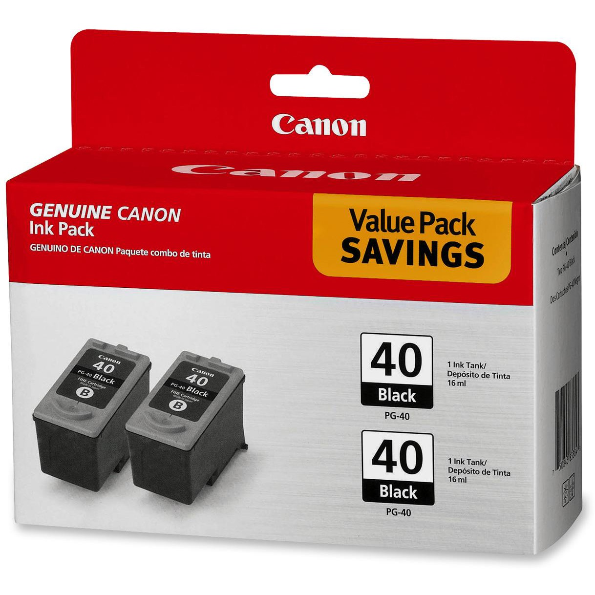 Canon 0615B013 PG-40 Twin Pack Black Ink Cartridge