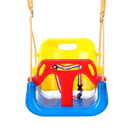3-in-1 Outdoor Baby Swing Set Playground Backyard Swing Seat For Baby,Infant,Children With Nylon