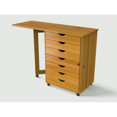 7 drawer gate leg roll cart desk walmart com