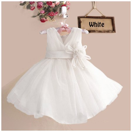 d26116bc5a75 Girls Flower V-neck Dress for School Girl Wedding Party Pageant ...
