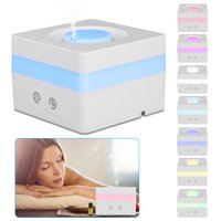 TSV Essential Oil Diffuser Aroma, 120ML Mini Portable Cool Mist Humidifier, 7 Color LED Lights Changing for Home Office (7 Colors 120ML)