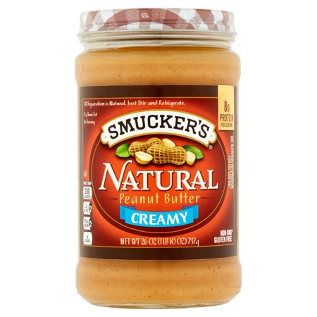 Smuckers Natural Creamy Peanut Butter  26 Oz