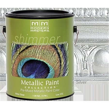 MODERN MASTERS ME150 1 Gallon Silver Metallic Paint - Opaque