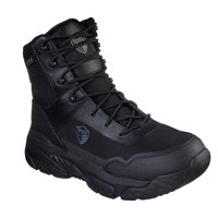 Skechers Work Men's Markan Black Synthetic/Leather Side Zip Lace Up Water Proof Tactical Boots