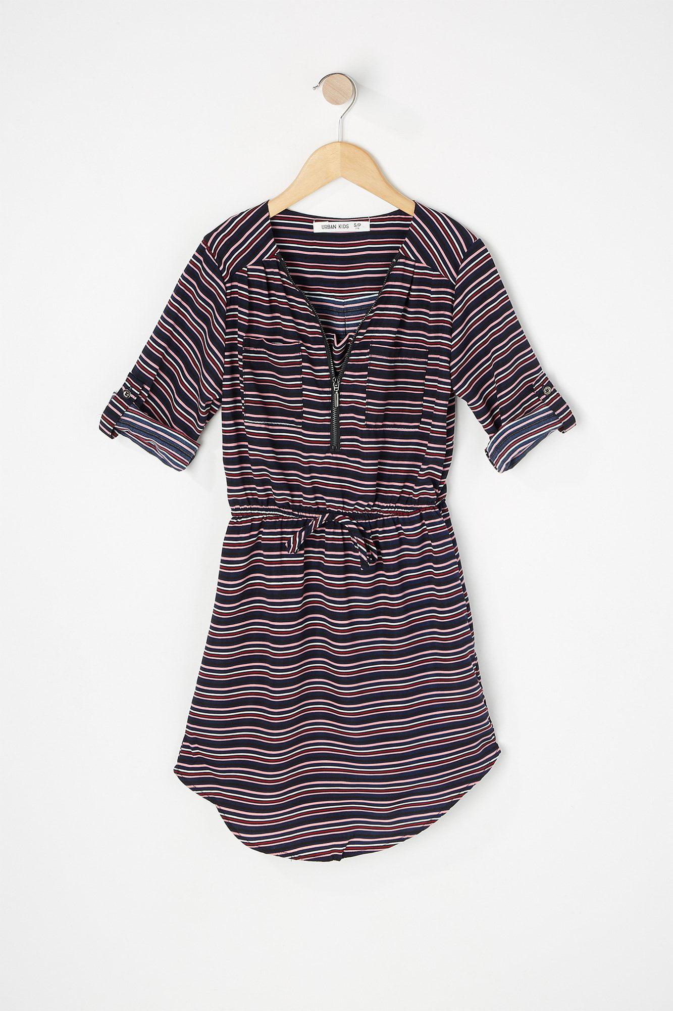 8282babe Urban Kids Youth Girls Printed Half-Zip Drawstring Dress | Walmart ...