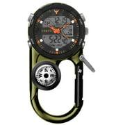 Dakota Watch  Men's Green Angler II Ana-Digi Clip Watch