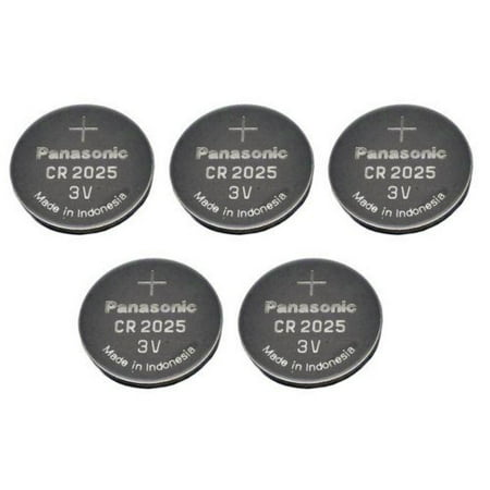 Panasonic CR2025-5 CR2025 3V Lithium Coin Battery