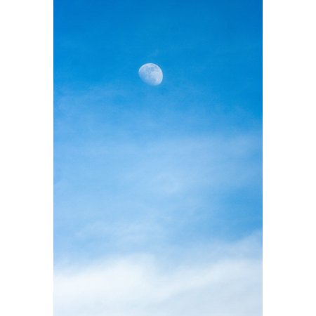 LAMINATED POSTER Cloudy Sky Sky Cloud Nice Moonlight Mood Moon Poster Print 24 x