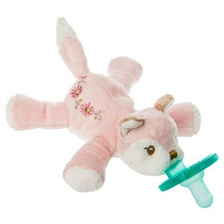Mary Meyer Wubbanub Soft Toy and Pacifier, Itsy Glitzy Fox (Wubbanub Pacifier Toy)