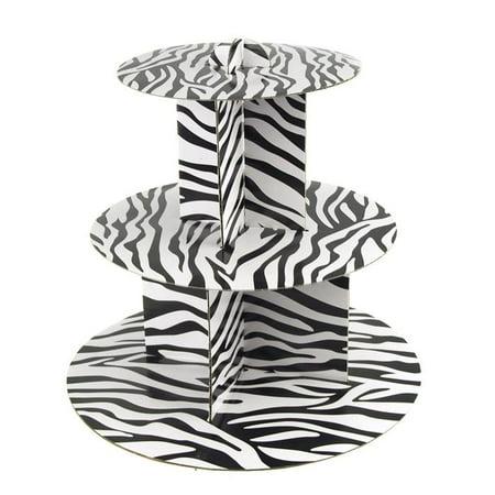 Cupcake Cardboard Stand (Spiral Zebra Cardboard Cupcakes Holder Stand,)